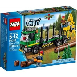 lego pilsēta 60059 liels transportlīdzekļi automašīna mežizstrādes komplektu