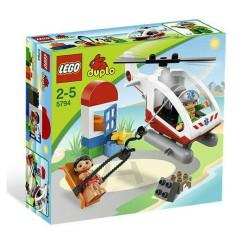 lego duplo 5794 hätätilanne helikopteri asetettu rakennus lelu hahmo asettaa uusia kohtaan
