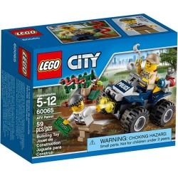 lego city 60065 city police lego atv patrol set