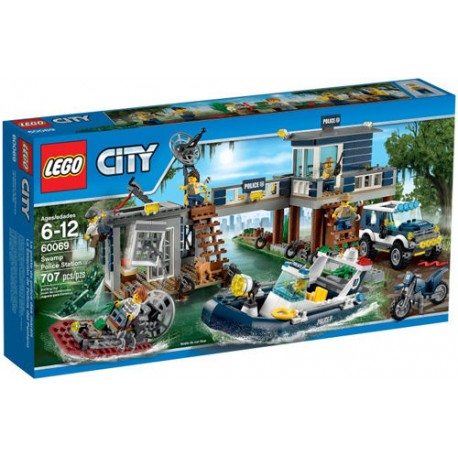 lego city 60069 city police lego swamp police station set