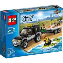 Lego Город 60058 больших транспортных средств внедорожник с набором водных мотоциклов
