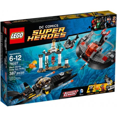 lego super hero76027 black manta deep sea strike set