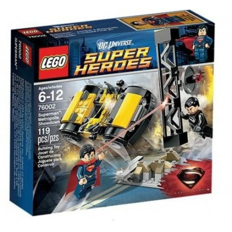 lego super hero76002 superman metropolis showdown set