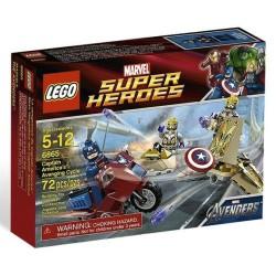 lego eccellente hero6865 Capitan Marvel insieme ciclo vendicatrice di America