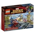 lego super hero6865 marvel captain america's avenging cycle set