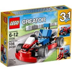lego creator31030 go-kart (rød) sett