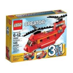 Twórca lego 31003 czerwone rotory 3 in1 czerwony samolot hydroplan śmigłowca zestaw