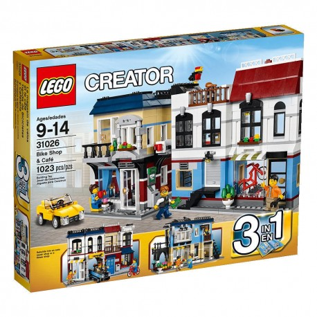 lego creator 31026 bike shop and cafe building toy