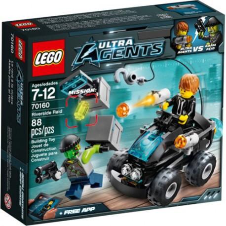 LEGO Ultra Agents 70160 Riverside Raid Set New In Box Sealed