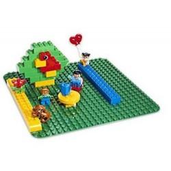 """lego duplo 2304 store grønne builing plate 15 """"x15"""" nye i eske"""