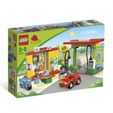 lego duplo 6171 gas station set building toy figure set new in box sealed
