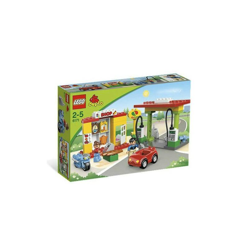 Lego Duplo 6171 Stacja Benzynowa Ustawić Budynku Zabawka Postać