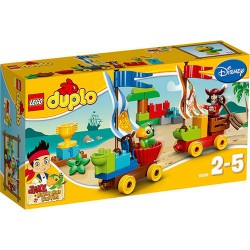 lego duplo 10539 jake and the never land pirates beach raicing new in box 10539