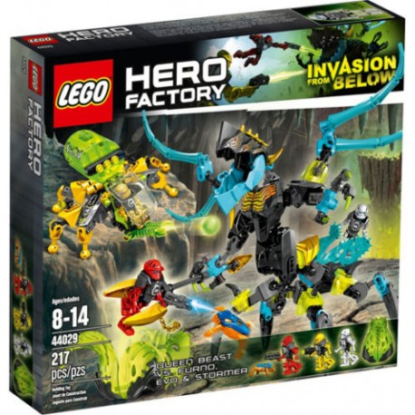 lego hero factory 44029 queen beast vs furno, evo and stormer