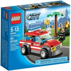 lego city 60001 city Fire chief car