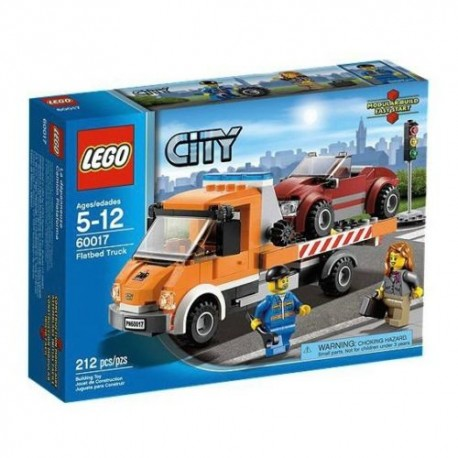 lego city 60017 flatbed truck set