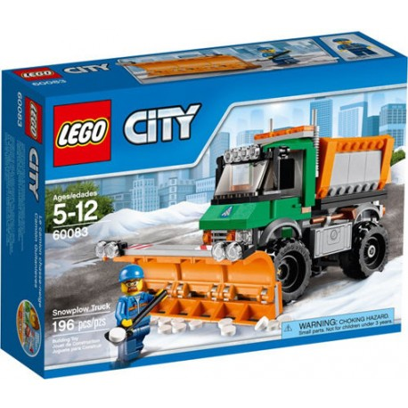 lego city 60083 city great vehicles snowplow truck