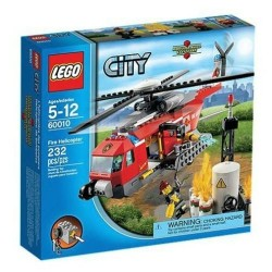 lego pilsēta 60010 ugunsdzēsēju helikopters