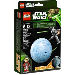 lego star wars 75010 B-wing starfighter & endor planet