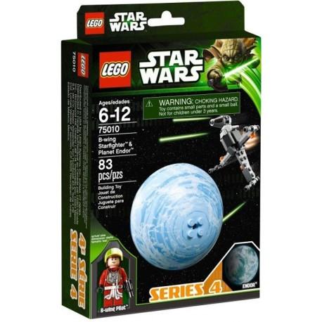 lego star wars 75010 B-wing starfighter & endor planet