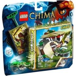 leyendas del lego de chima 70.112 croc chomp establecen nuevo en caja