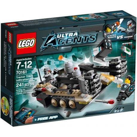 LEGO Ultra Agents 70161 Tremor Track Infiltration Set New In Box Sealed