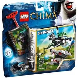 leyendas del lego de chima 70107 ataque zorrillo establecen nuevo en caja