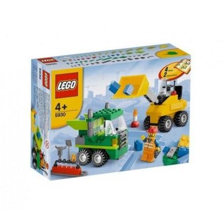 lego road construction building 5930