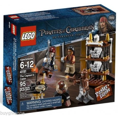 lego pirates of the caribbean 4191 the captain's cabin