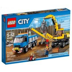 LEGO City 60075 Місто Знесення LEGO Екскаватор і вантажівка Set