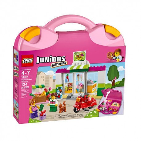 lego juniors supermarket suitcase 10684