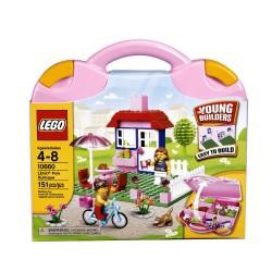 Lego City rosa koffert 10660