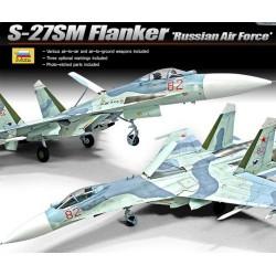 rosyjski S-27SM flanker E 1/72 Academy 12524