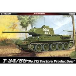 """Т-34/85 '№ 112 завода по производству """"1/35 академия 13290"""
