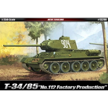 T-34/85 'No.112 factory production' 1/35 academy 13290