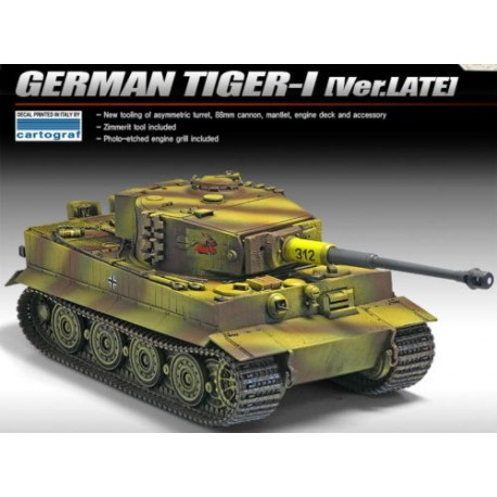 german tiger-I [Ver.LATE] 1/35 academy 13314