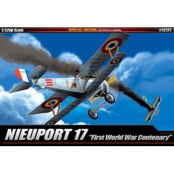 Nieuport 17 ensimmäisen maailmansodan satavuotista (12121) 1/32 Academy
