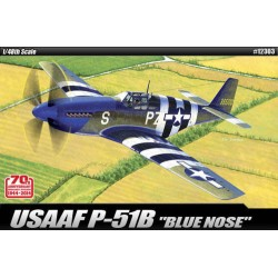 академия P-51B синьо носа 70-ата Ан Нормандия инвазия модел комплект 1/48 12303