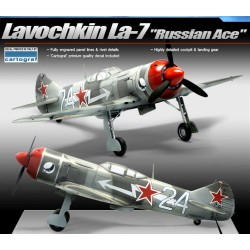 academ LA-7 russian ace airplane model kit 1/48 12304