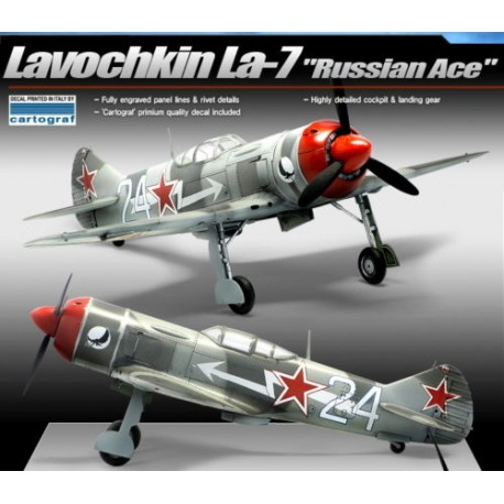 academ LA-7 russian ace airplane model kit 1/48 12304
