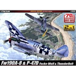 fw190A-8 & P-47D 1/72 akademi 12513