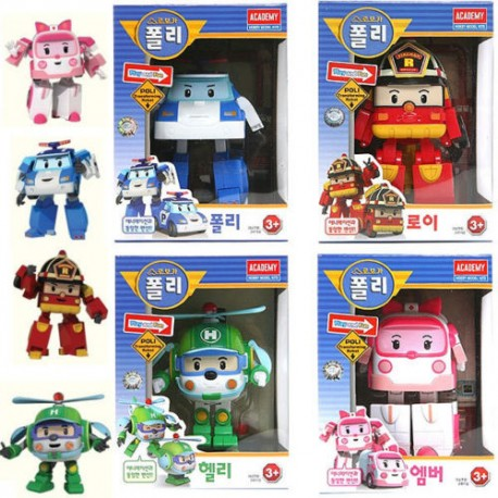 robocar poli helly amber roy transforming robot set