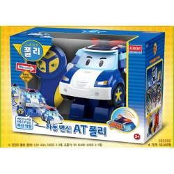 "robocar ""at poli"" auto transformation & driving radio remote control toy robot"