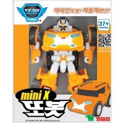tobot mini x pārveidojot robotu transformatoru auto
