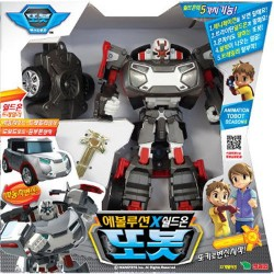 tobot evolution X shield on transformer car robot