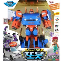 tobot W flying transformers robot to car action figure