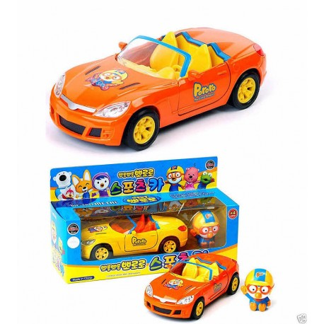 pororo sports car character doll