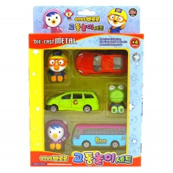 Pororo 3 mini car & 3 figures toy set