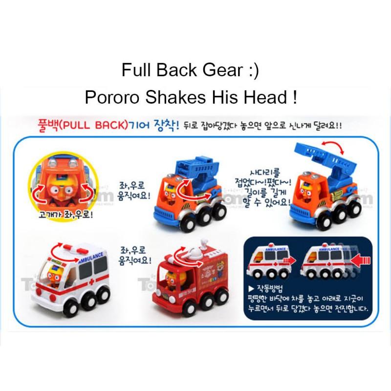 Pororo Cute Mini Cars 3 Models Toy Set Full Back Gear Hellotoys Net