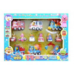 the little penguin, pororo - friction mini car set